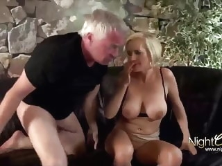 anal blowjob Horny wife used hard by old men