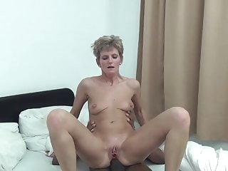 anal mature Unknown short-haired skinny granny interracial