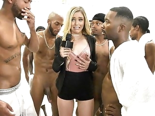 blowjob cumshot Kali Roses Sucks A Black Football Team