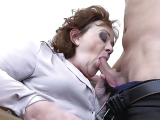 amateur blowjob Granny and grandson try taboo sex